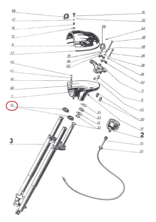 Horní průchodka přední vidlice