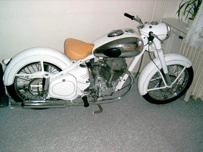 Jawa 500 OHC 00.16 Šnek, 1954