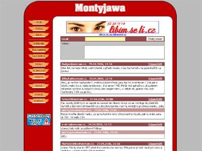Montyjawa.cz v roce 2005